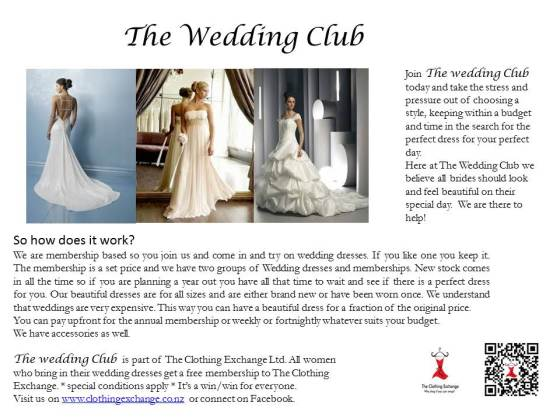 The Wedding Club postcard front