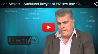 auckland lawyer ian mellett of quay law on the idream video channel being interviewed by Ray Bishop